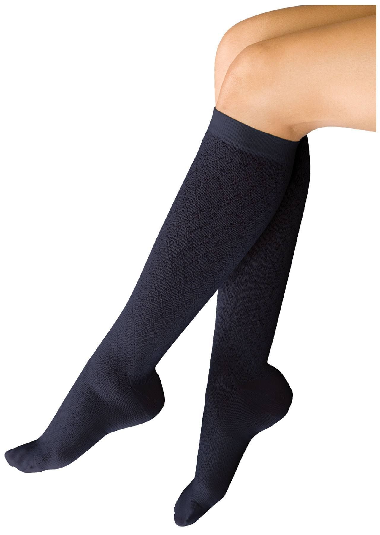 10-15 Mmhg Support Trouser Sock - Diamond Navy