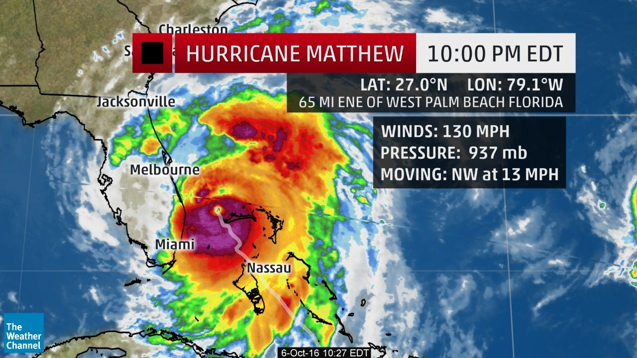 Hurricane Matthew Recap Destruction From The Caribbean To The United States The Weather Channel Storm Status West Palm Beach Florida