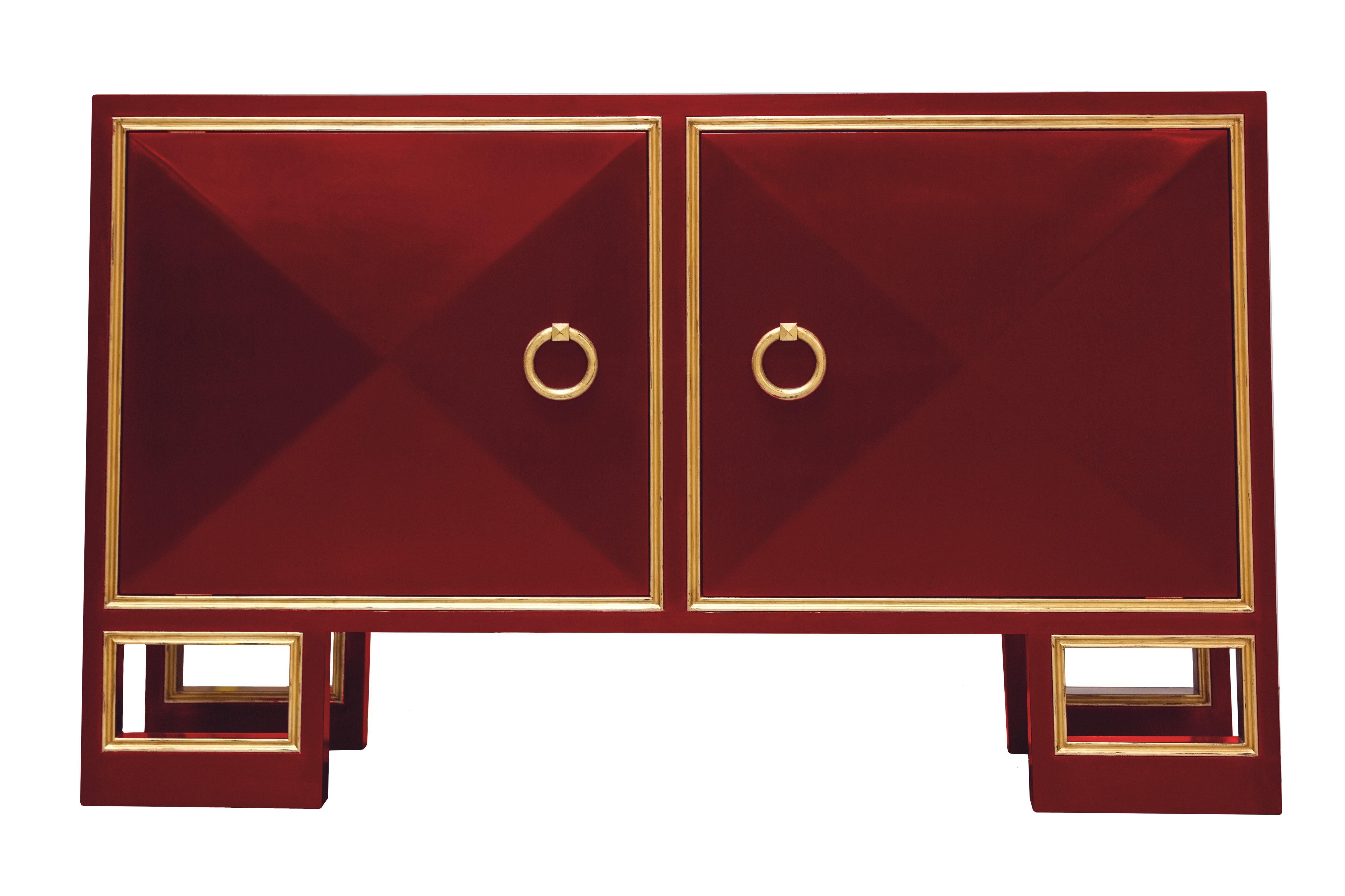 Best Truex American Furniture Red Lacquer St Regis Cabinet 400 x 300