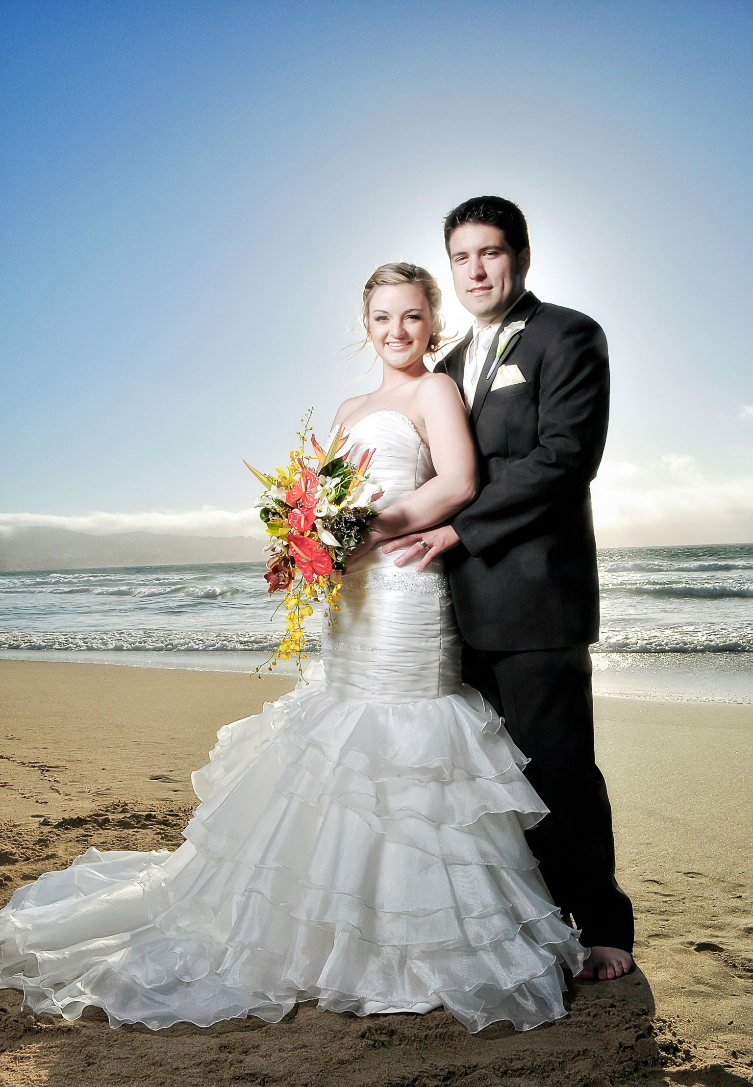 Monterey California Wedding Portrait Beach
