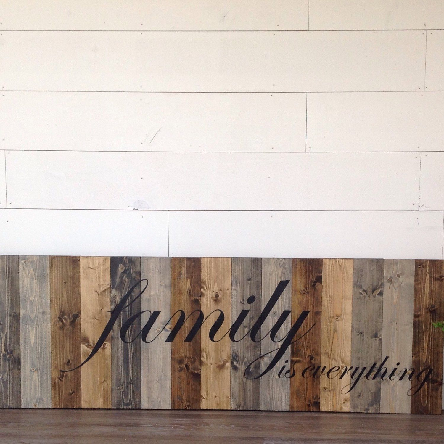 Family is everything, LARGE wood Family sign, Distressed Family sign ...