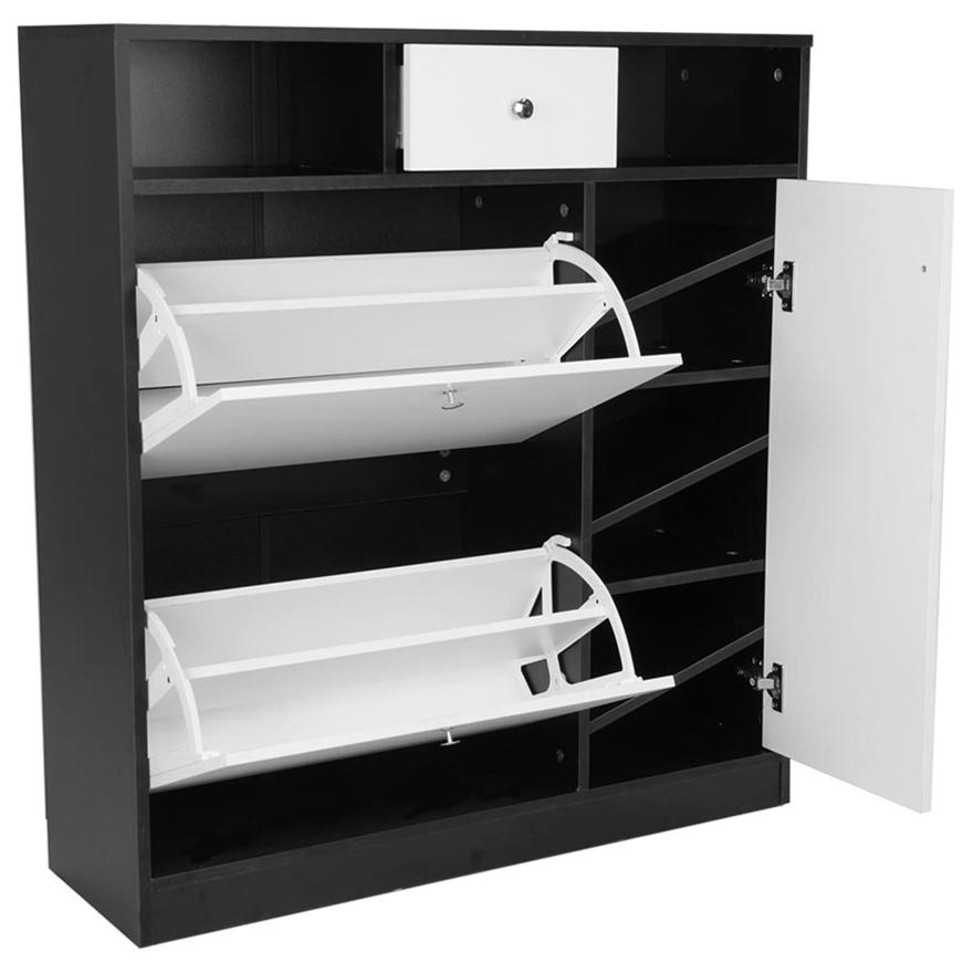 Shoe Rack Cabinet Wooden Storage Organiser Shelf Cupboard Drawer Wooden Storage Cupboard Drawers Shoe Cabinet Design