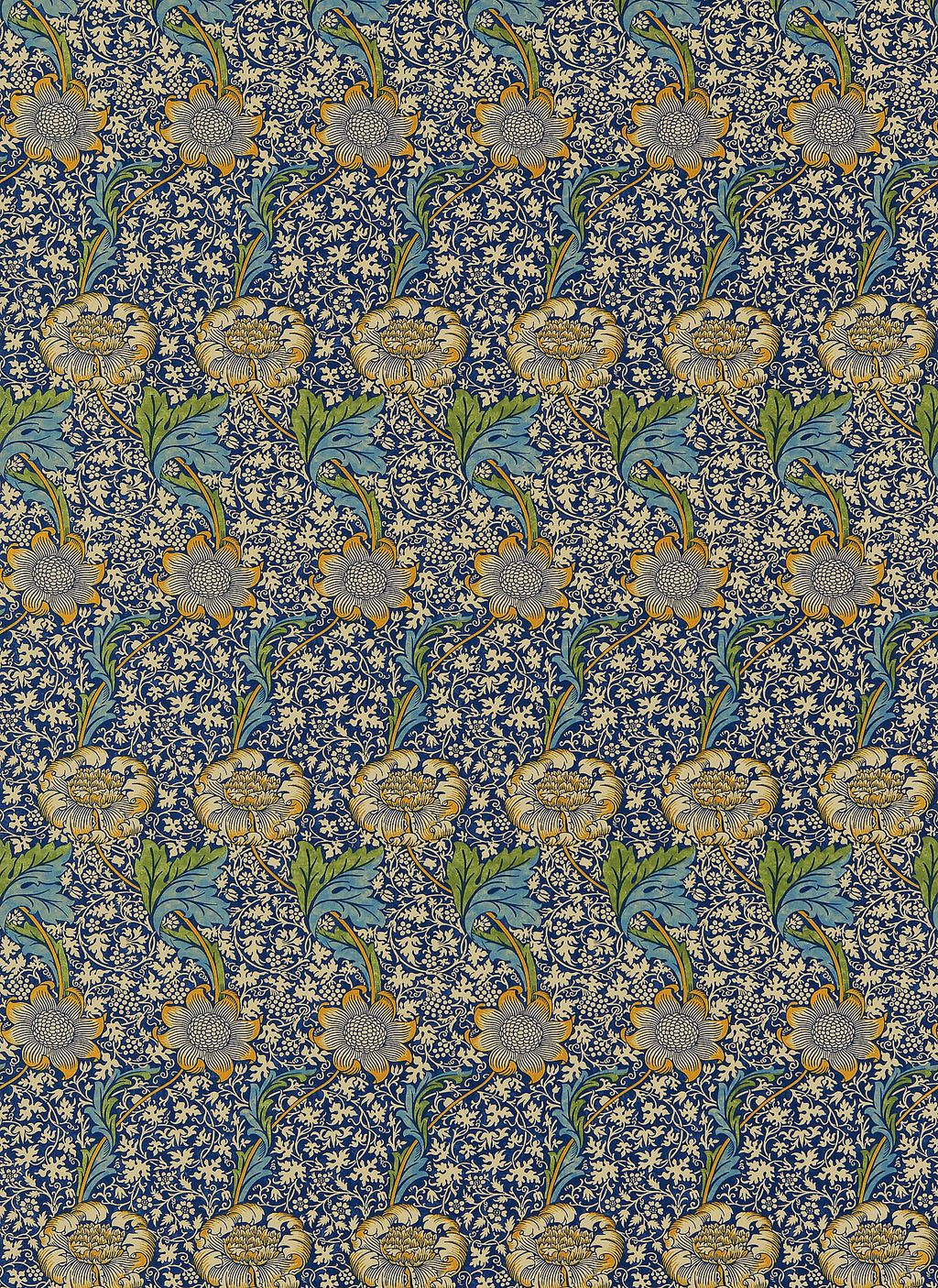 Sample Of Wallpaper By William Morris Designs Kennet 1883