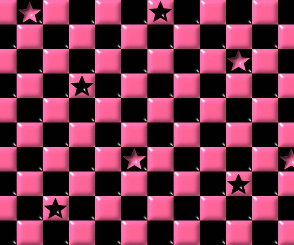 Pink And Black Iphone Wallpaper Pink Black Checkered Free Phone