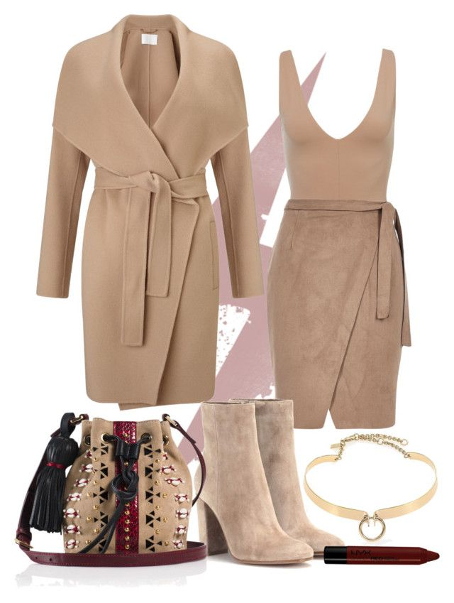 """Send Me Nudes 001: 1/3/16"" by alwayswerking on Polyvore featuring HUGO, River Island, Gianvito Rossi, Alexis Bittar, Tamara Mellon and NYX"