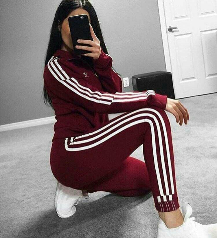 País de origen vestir Acrobacia  Red adidas   Roupas adidas femininas, Looks adidas, Roupas adidas