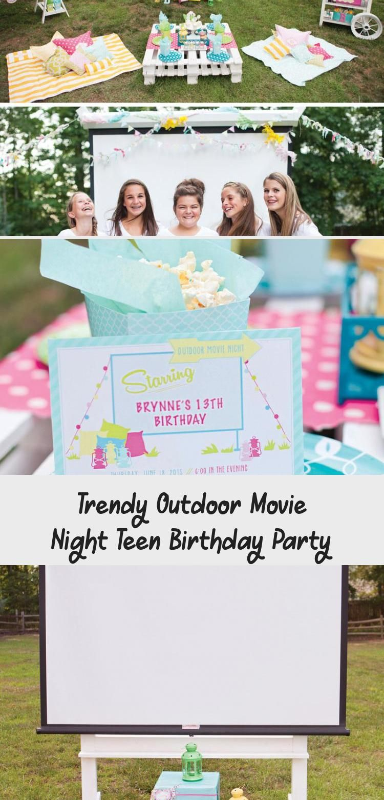 Photo of Trendy Outdoor Movie Night Teen Birthday Party – Home Decor Diy