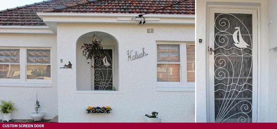 Custom Screen Door design for 1950s house & Custom Screen Door design for 1950s house | About the house ... pezcame.com