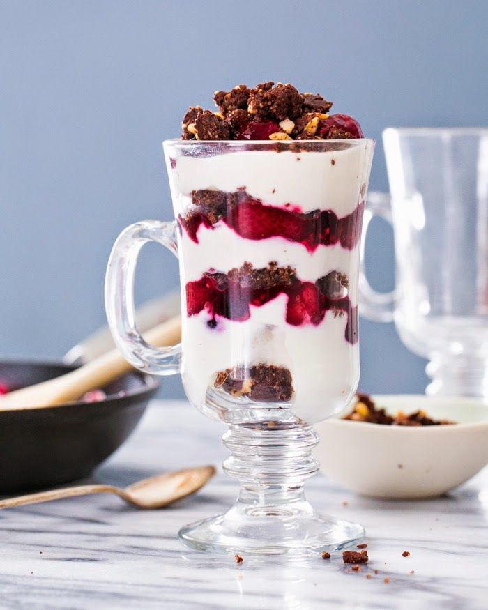 Triple Berry Raw Brownie Parfait