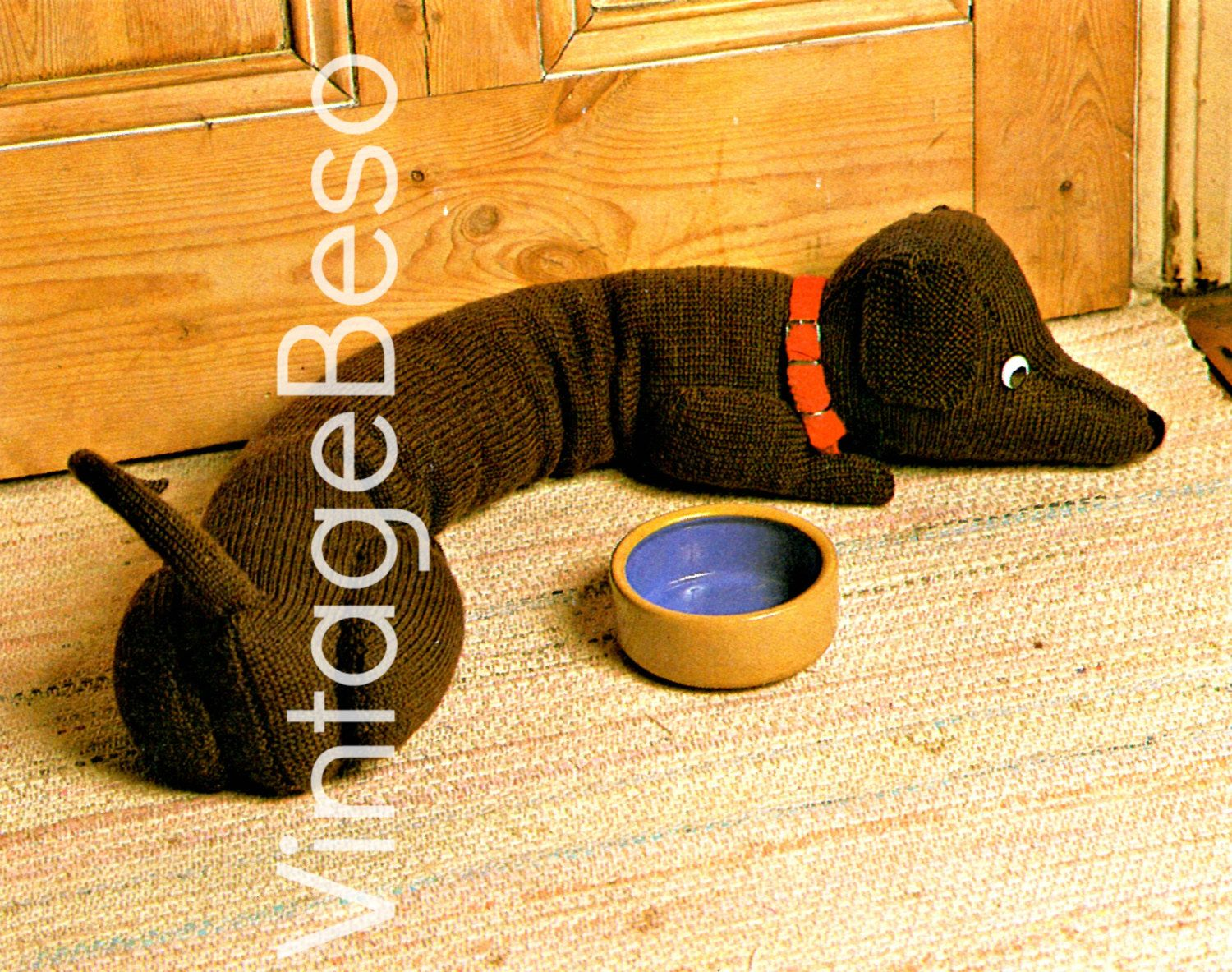 Doggie door draft stopper knitting pattern dachshund draught doggie door draft stopper knitting pattern dachshund draught excluder instant download pdf home decor to prevent bankloansurffo Gallery
