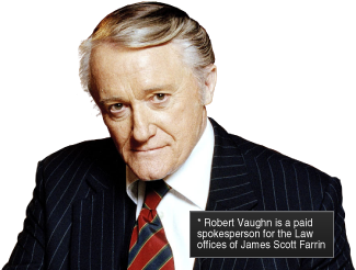 Robert Vaughn Is A Spokesperson For The Law Offices Of James Scott