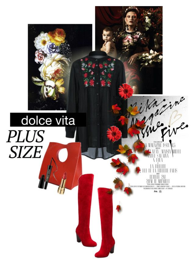 """""""Plus Size"""" by lacas ❤ liked on Polyvore featuring Dolce&Gabbana, Dolce Vita, plussize and twinkledeals"""