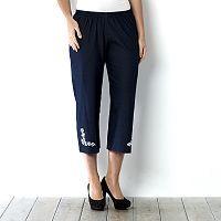 153348 - Quacker Factory Denim Knit Crop Trouser With Embellishment