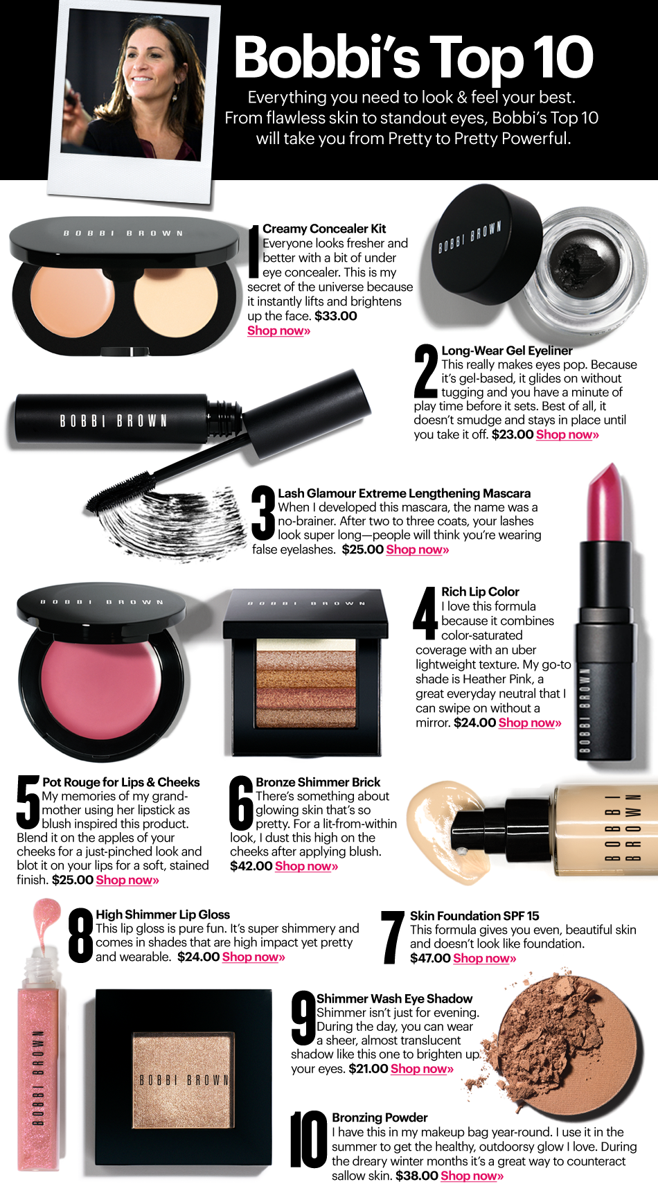 Best Cosmetics | Bobbibrown.com for BB's amazing lipstick color..and bronzer..and blush..