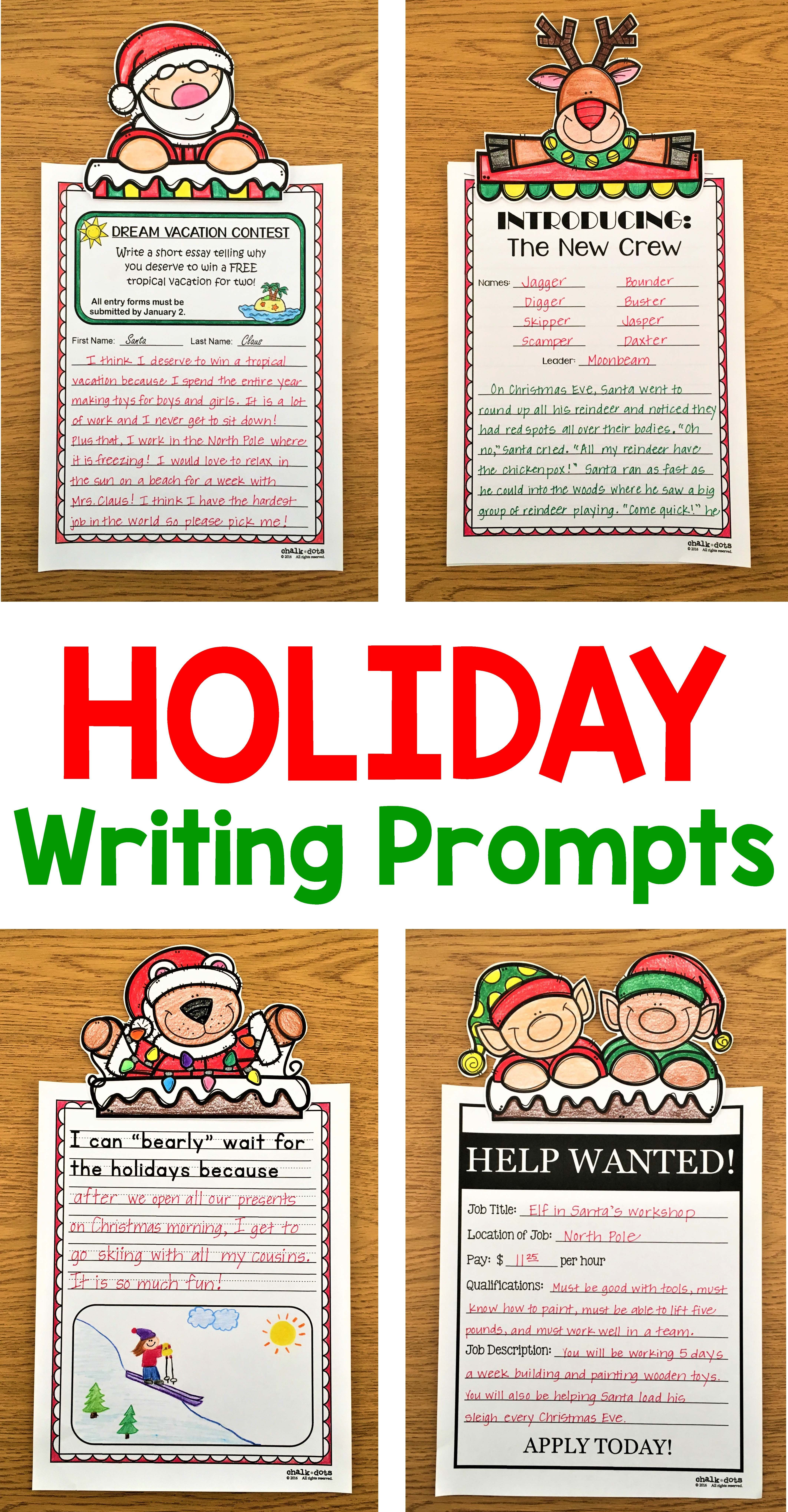 Christmas Writing Prompt Bundle  Tpt Language Arts Lessons  Save Over  By Purchasing This Bundle Of Christmas Writing Prompts This  Bundle Includes Four Different Resources Christmasholiday Writing  Prompts  College Essay Papers also Essay Proposal Format  Example Of A Thesis Essay