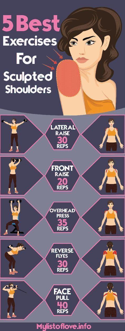 best exercises for sculpted shoulders – Dumbbell – Ideas of Dumbbell #Dumbbell -…