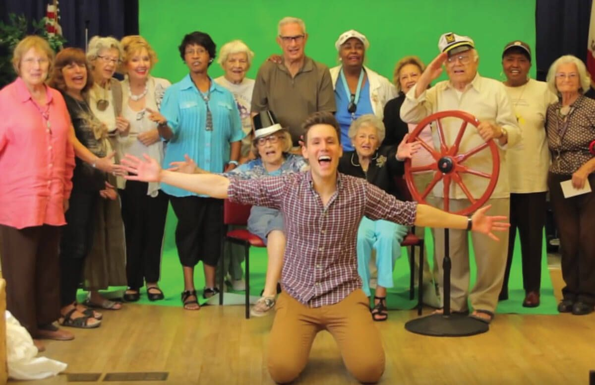 Matthew Hoffman with his Tuesdays with Matthew cast members