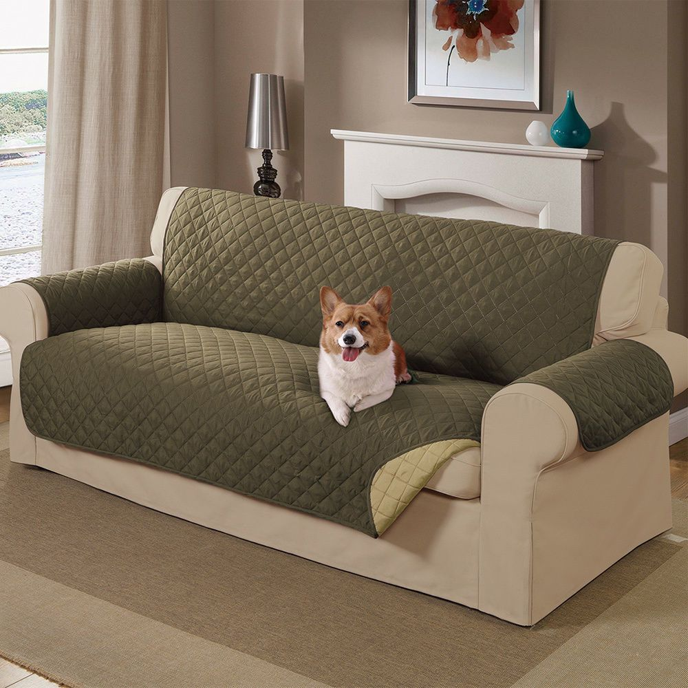 Sofa Covers For Dogs Pets Reversible Machine Wash Seat Furniture Olive Sage