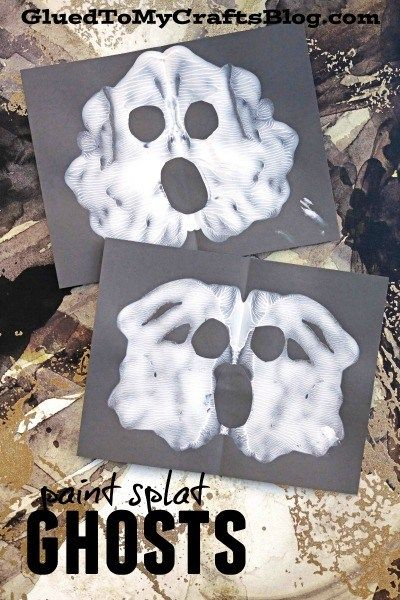 Paint Splat Halloween Friends - Kid Craft Paint splats, Halloween - halloween kids craft ideas