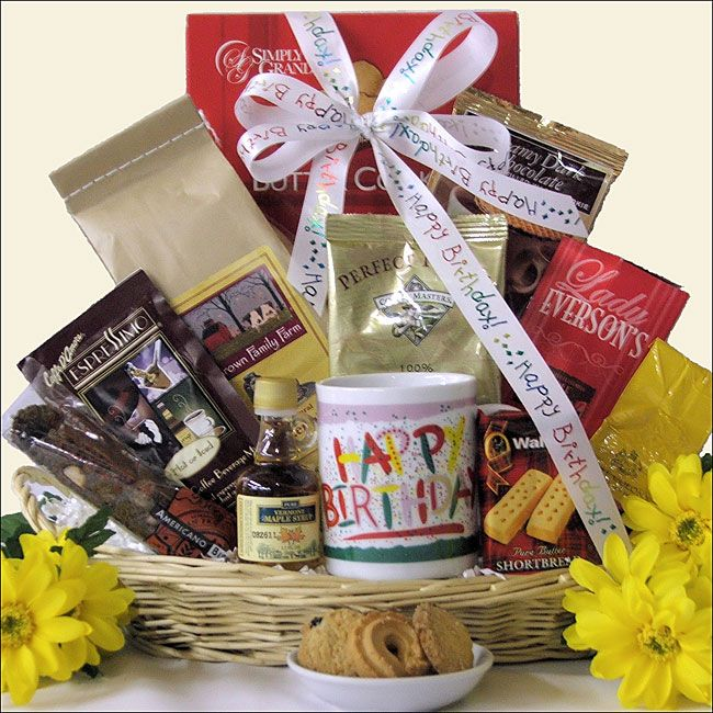 Happy Birthday Coffee Gift Basket