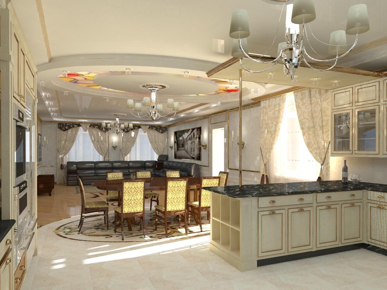 Кухня-столовая | Интерьер кухни, Интерьер, Расстановка мебели