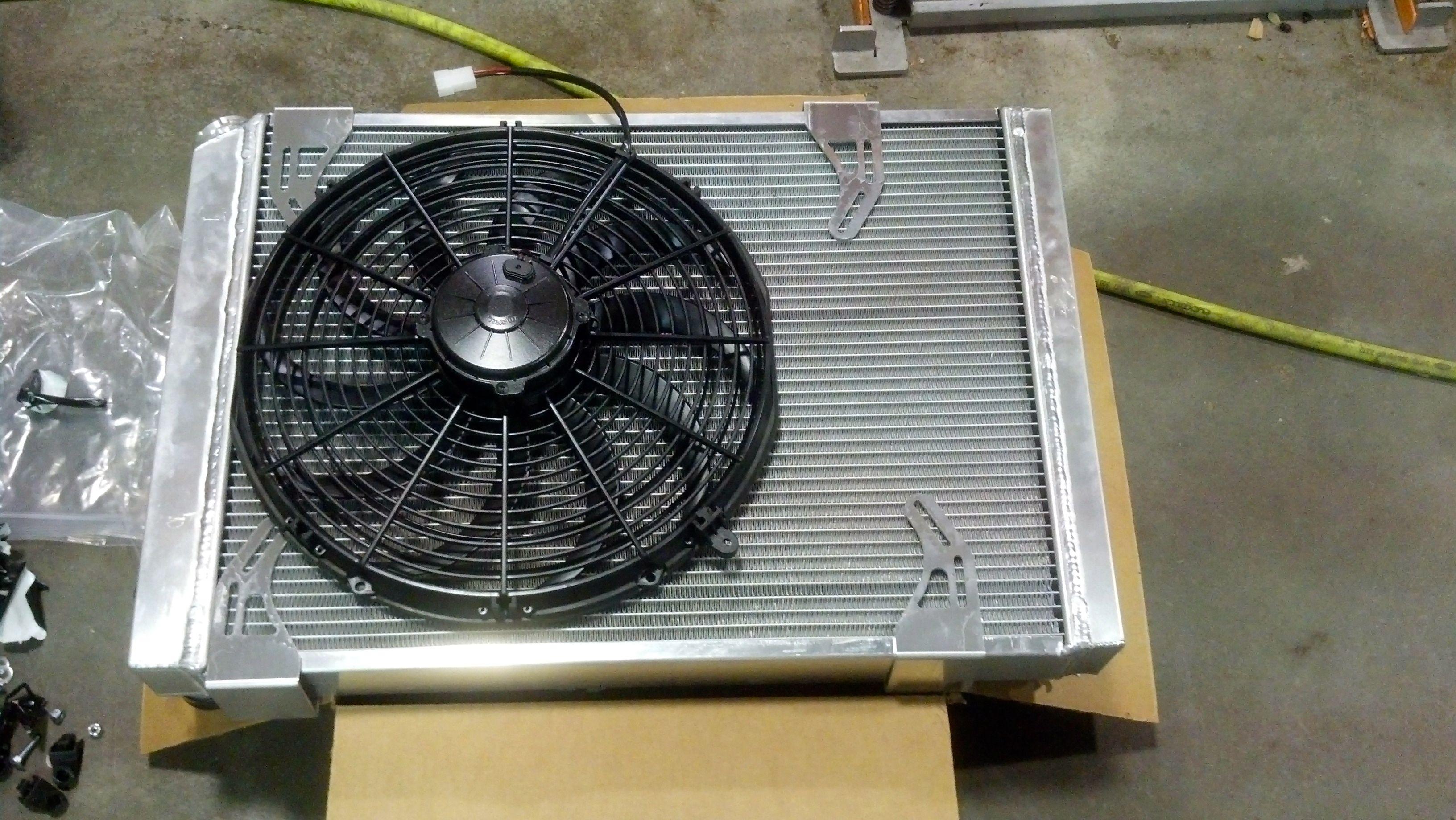 Advance Adapters Radiator And Spal 16 Fan Adapters Fj40 Box Fan