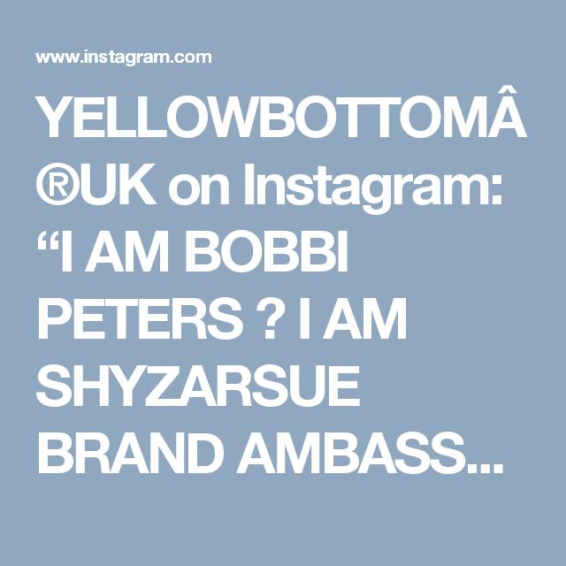 """YELLOWBOTTOM®UK on Instagram: """"I AM BOBBI PETERS ➰  I AM SHYZARSUE BRAND AMBASSADOR 🚩  PLACE : SOUTH AFRICA @BOBBIDEMI  #instagood #m #fashionblogger #modellife…"""""""