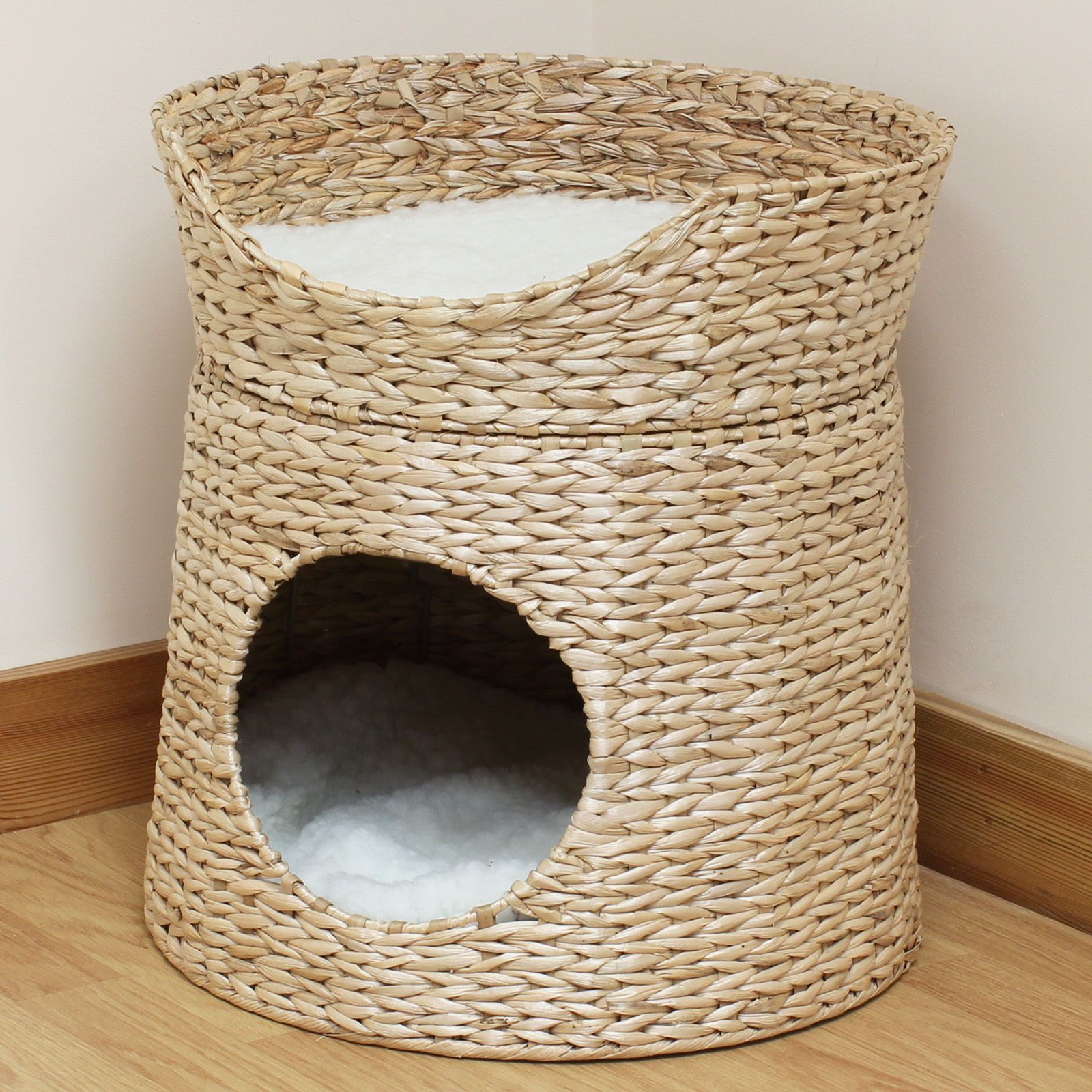 Seagrass beds furniture - Details About Double Cat Kitten Puppy Bed Natural Woven Seagrass Twin Basket Pod Igloo Cave