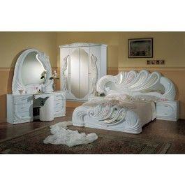 Vanity White Italian Classic 5 Piece Bedroom Set With Images