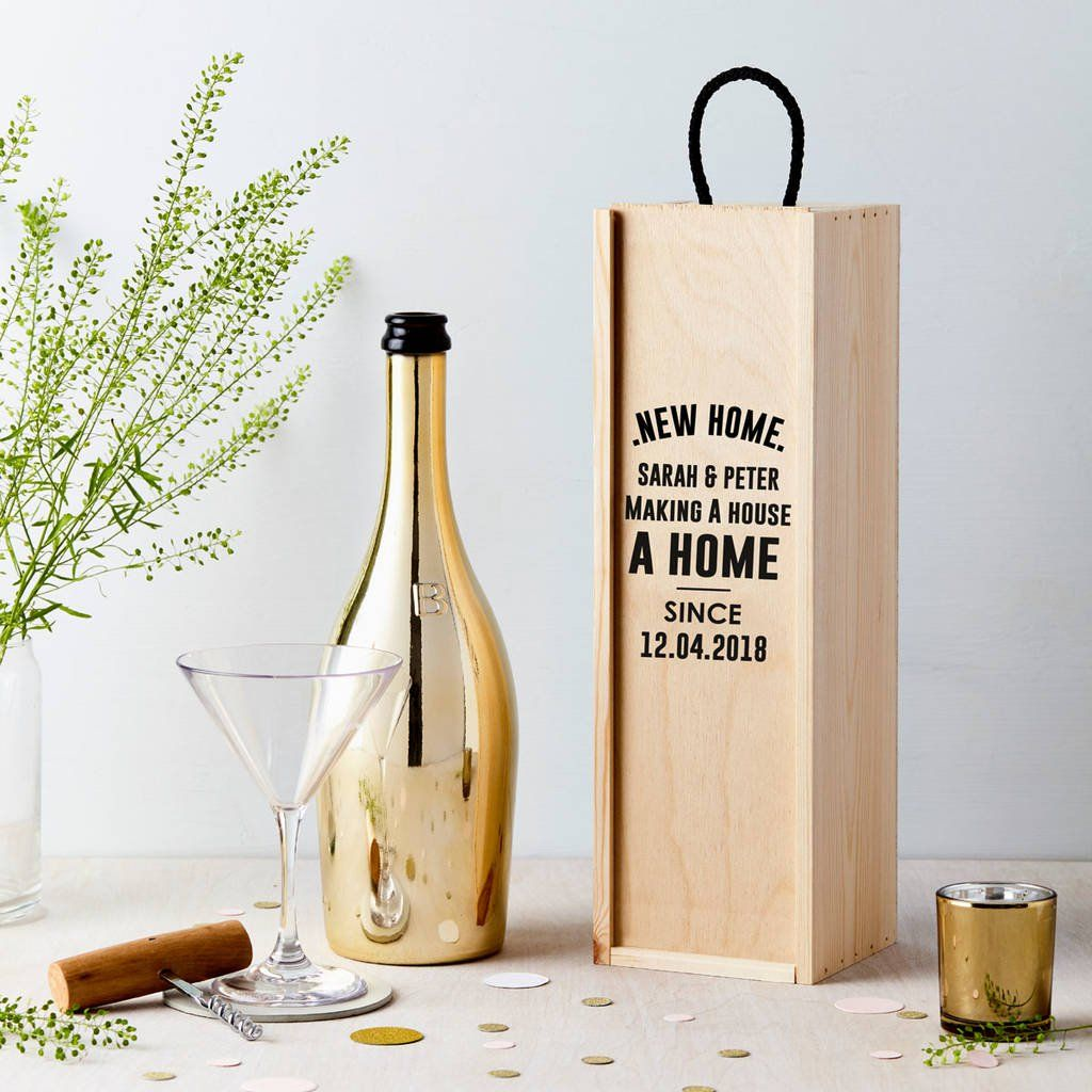 98b02e4f4999e Are you interested in our personalised wooden bottle box  With our wooden wine  box new home gift you need look no further.
