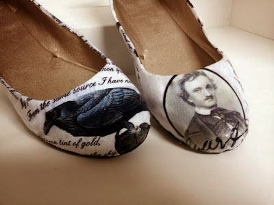 Book-themed shoes from Book Riot