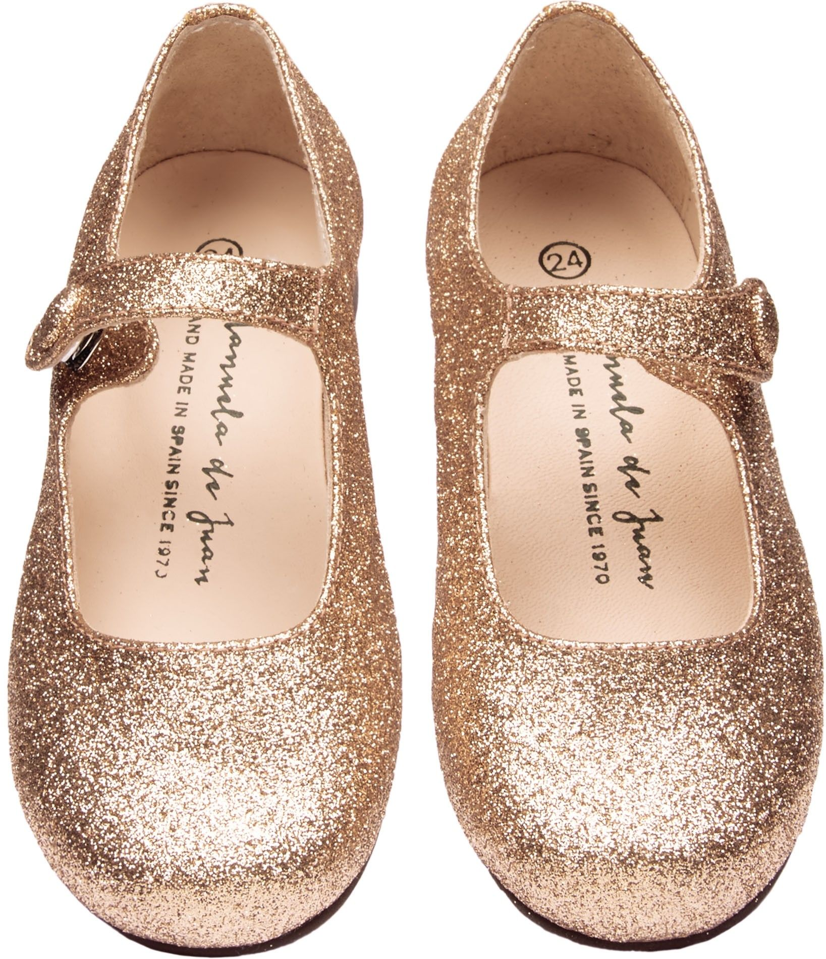 JUST IN Shop The Manuela De Juan Girls Mimi Shoes In Gold Browse