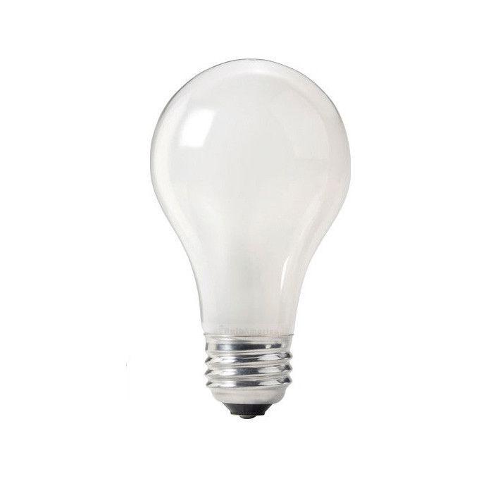 4pk Philips 72w 120v A Shape A19 E26 White Ecovantage Halogen