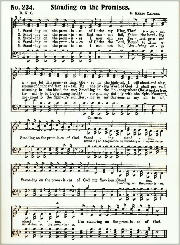 Lyric blessed redeemer lyrics : Standing On The Promise | Amys | Pinterest | Songs, Sheet music ...
