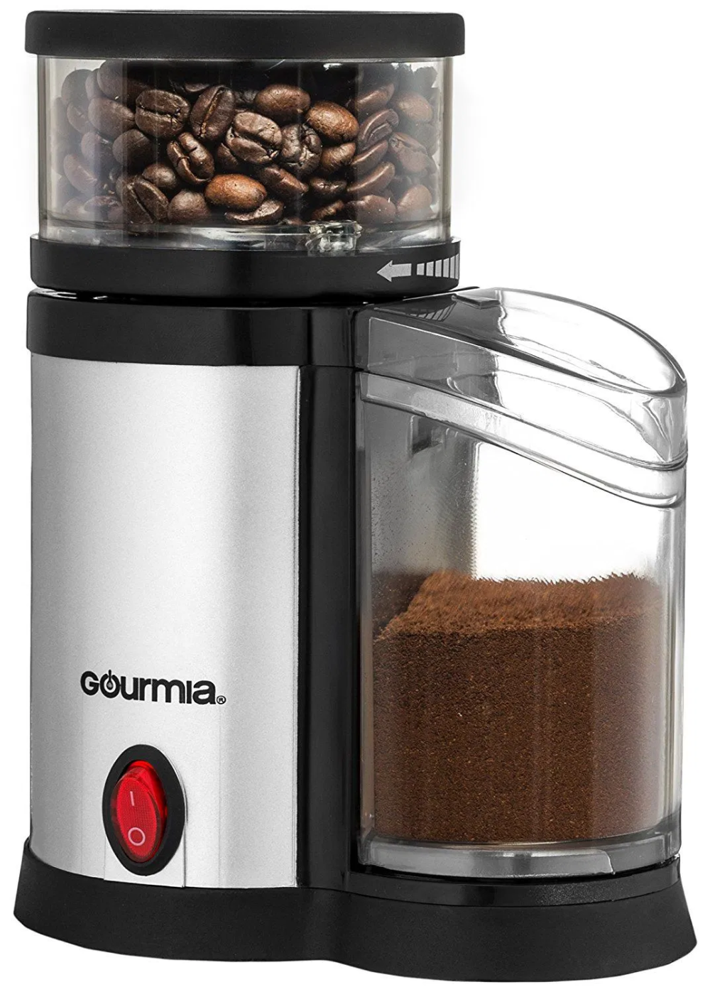 Gourmia Compact Electric Burr Coffee Grinder Coffee and