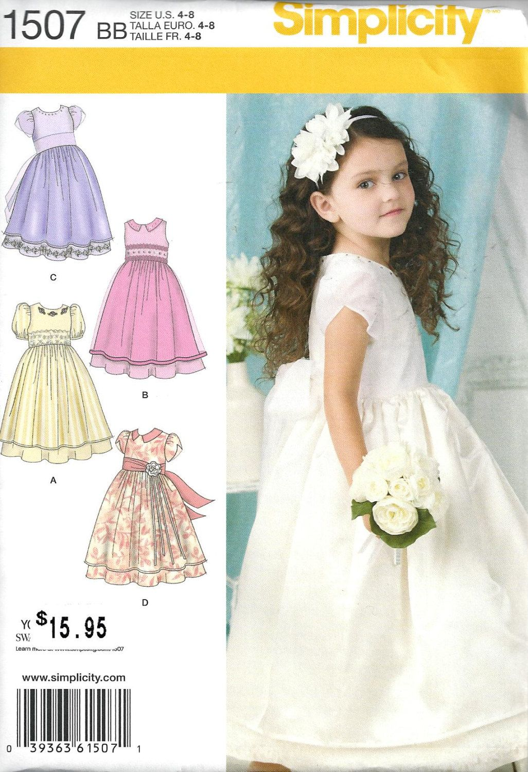 CHILD 3~6 GIRL 7~14 FLOWER GIRL~1ST COMMUNION MAKE FANCY DRESS SEWING PATTERN