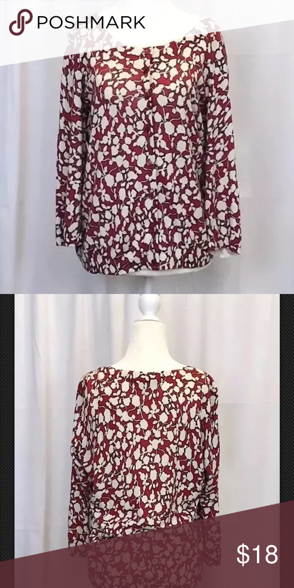 2cc23dd92570 Talbots SZ Petite Large Red Floral Print cardigan Talbots Petite Womens  size Large 3 4 Sleeve Button Up Cardigan Sweater Red and white abstract floral  print ...