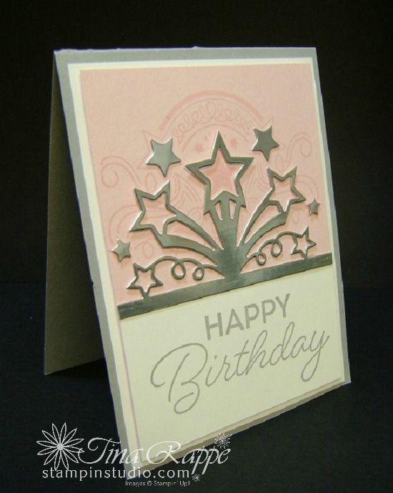 Stampin Up Birthday Blast Bundle Stamp Set Star Edgelits Dies Card Studio