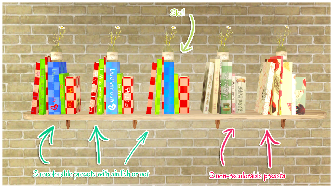 Everlasting-Garden - Books working as a functional bookshelf #Sims3