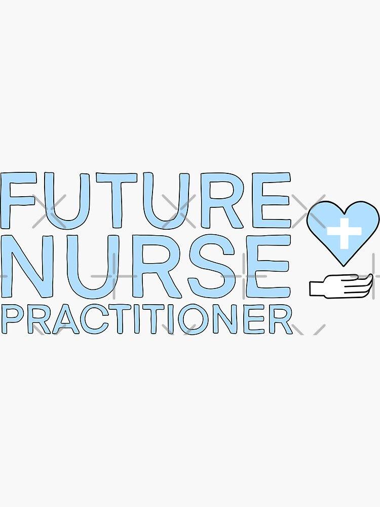 'future nurse practitioner (rn) in pastel blue' Sticker by