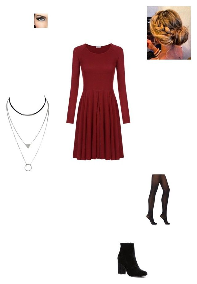 """""""First Date with Yuuri"""" by maryvarleyrox ❤ liked on Polyvore featuring Witchery and Wolford"""