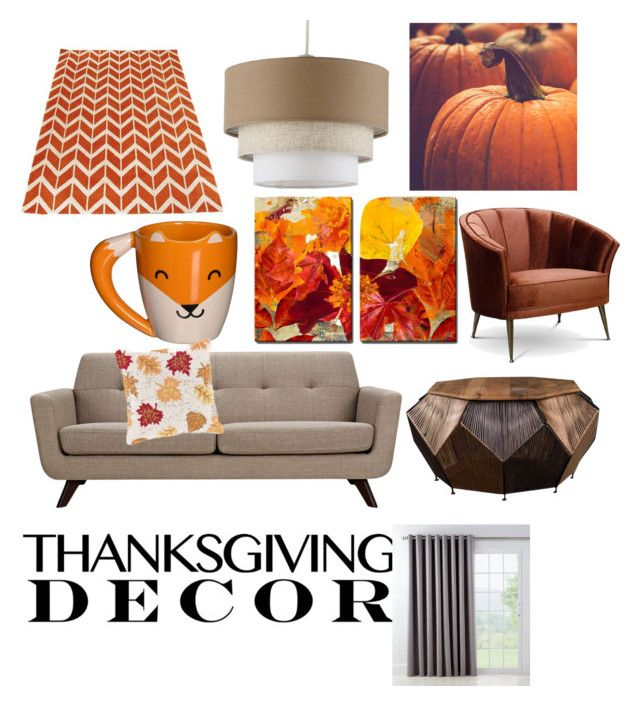 """""""Happy Thanksgiving"""" by seansmith1554 ❤ liked on Polyvore featuring interior, interiors, interior design, home, home decor, interior decorating, Arca, Country Curtains, Surya and ThanksgivingDecor"""