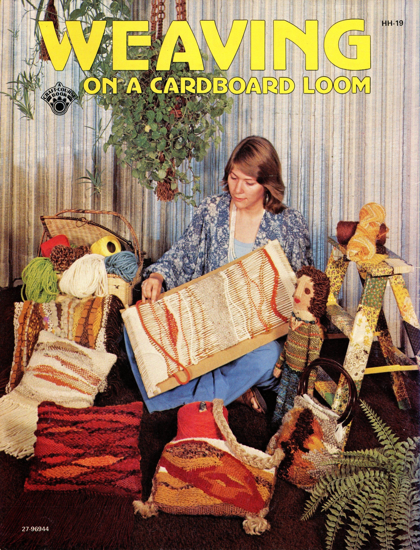 Weaving On A Cardboard Loom • 1970s Flatloom Weaver Book • Toys Bag Instruction Pattern Books • 70s Vintage Knotwork • Digital PDF Ebook by TheStarShop on Etsy