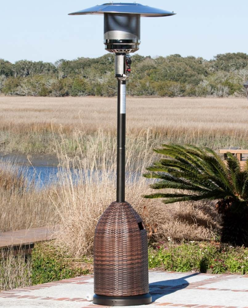 fire sense all weather wicker patio heater patios outdoor