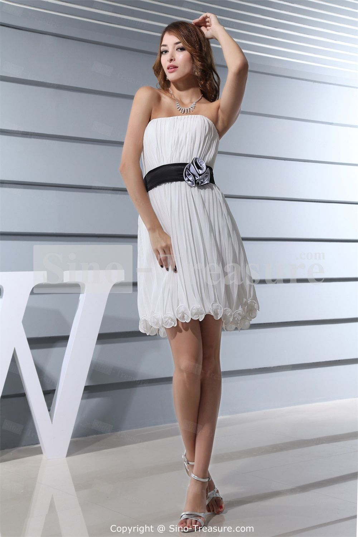 I like this one in purple..   Chiffon/Silk-like Satin Strapless Sleeveless A-Line Short Bridesmaid Dress on AliExpress.com. $104.99