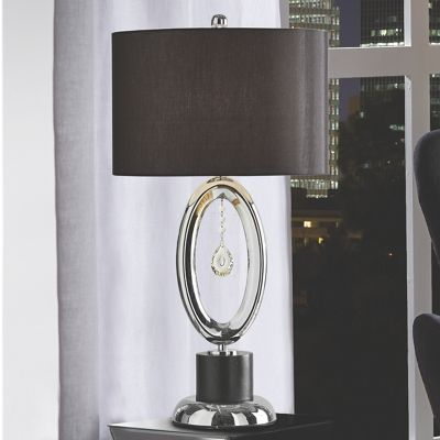 Cutout table lamp with crystals from midnight velvet a sophisticated accent for a contemporary room