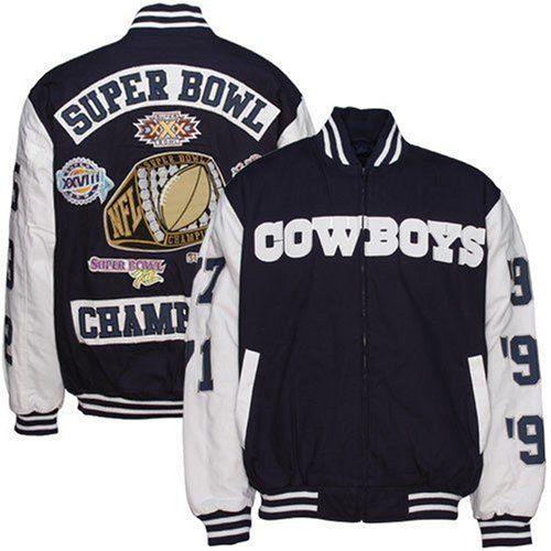 cheap for discount 5274f f60fb Dallas Cowboys Super Bowl Championships   Dallas Cowboys 5-Time Super Bowl  Champions Canvas Jacket