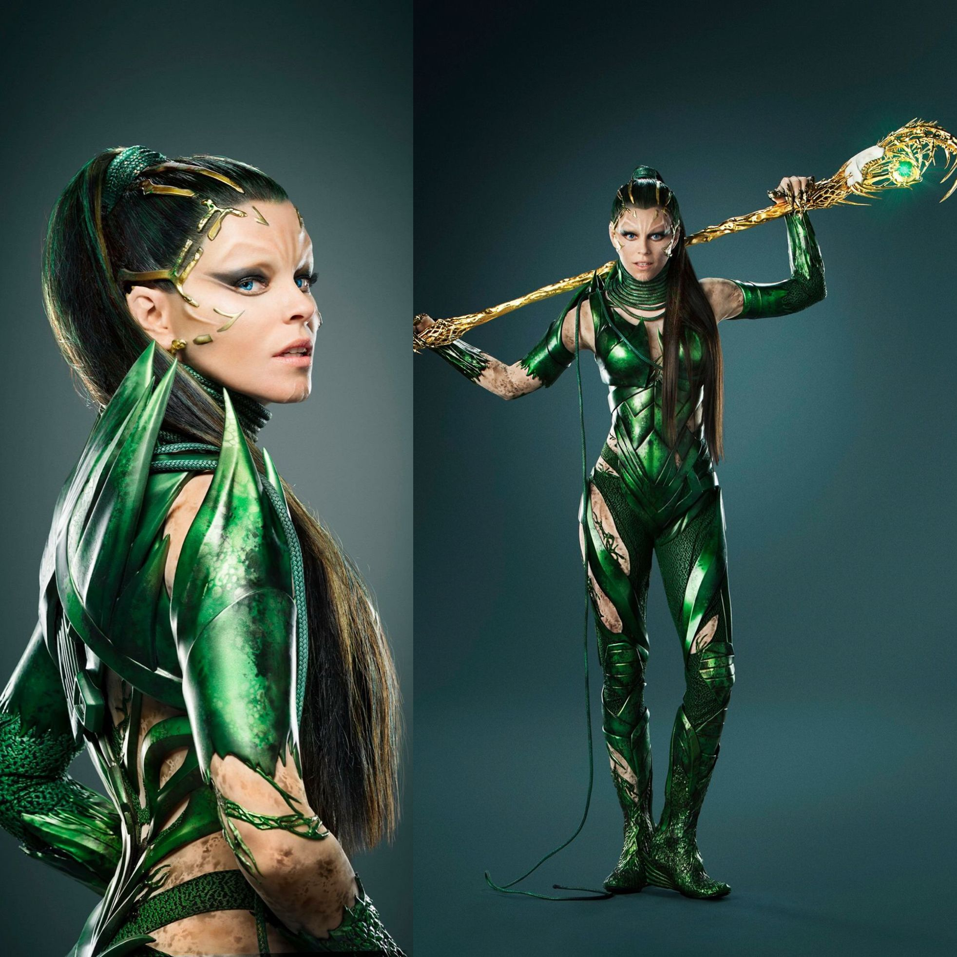 2 New Still Pics From Power Rangers Movie Featuring Elizabeth Banks As Rita Repulsa Power Rangers Hits The Rita Repulsa Power Rangers Power Rangers Costume