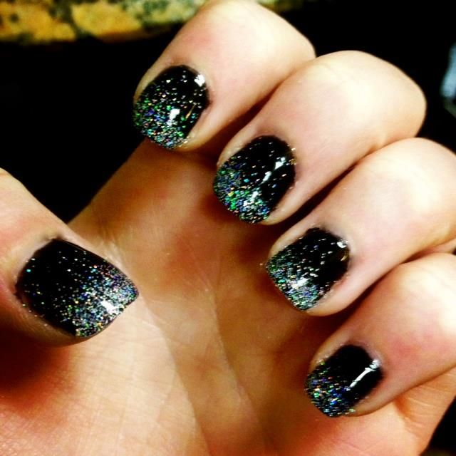 No chip manicure by steph jean marie talent pinterest black with sparkles prinsesfo Gallery