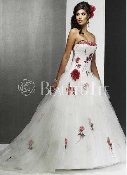 Un estampado de flores es toda una novedad en los vestidos de novia ...